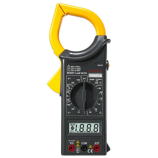 M266F Digital Clamp Meter Ammeter Voltmeter Ohmmeter Insulation ...