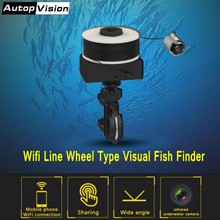 Line Wheel Type Visual Fish Finder X5 30m Wifi Underwater Fishing Camera Visible Video Fish Finder with 6pcs night vision LEDS