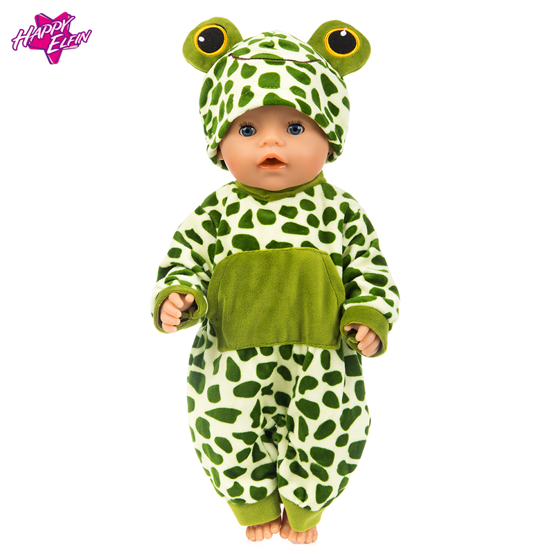 Fashion Style Lovely Flog Clothes Soft for 18 Doll Clothes and American Girl Dolls Zapf Baby Doll