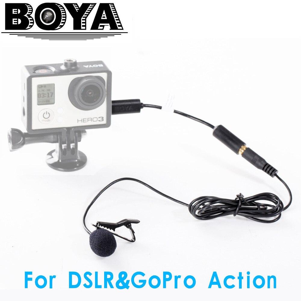 BOYA BY-LM20 Lavalier Clip-on všesměrový kondenzátorový mikrofon pro GoPro HERO3 HERO3 + & HERO4 Black White & Silver Editions