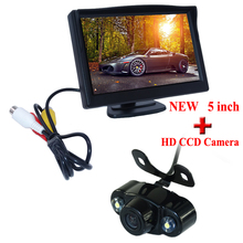 Promotion For Stand 5Inch TFT LCD Mirror Monitor with All-in-one Car Rear View Parking Camera Hot sale
