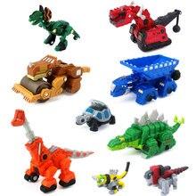 Carrinho de brinquedo de dinossauro, mini brinquedo colecionável de caminhões de dinossauro para crianças