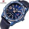 2018 New Mens Watches Top Brand Luxury NAVIFORCE Sport Men S Watch Quartz Leather Blue Wrist