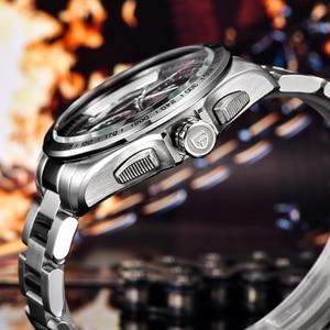 Image 4 - PAGANI עיצוב 2020 חדש למעלה קוורץ שעונים גברים ספורט לוח שנה עמיד למים נירוסטה צבאי שעון Relogio masculino