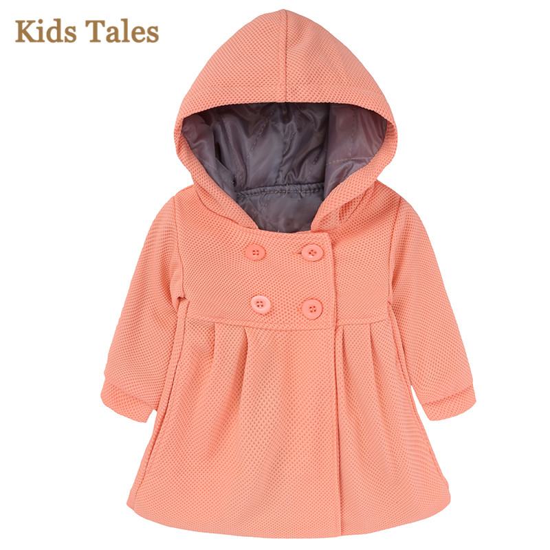 Coat Jackets Hoodie Girl Toddler Autumn Winter Children Cotton with Cute PR-197 Long-Sleeve