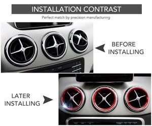 Image 2 - In lega di alluminio di uscita Dellaria sticker/Strumento anello decorativo presa pannello di Aria Per Mercedes Benz AMG A/B/GLA/CLA W246 W176 Classe