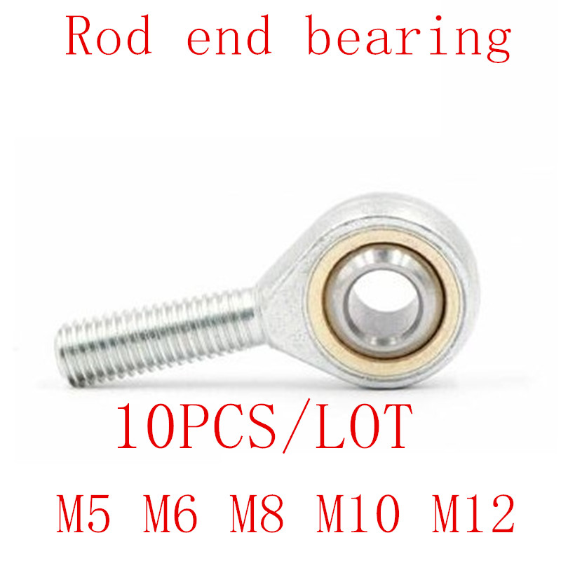 M10X1.25mm 6x SQ10 M10 Bore 90 Degrees Connector Ball Joint Rod End Bearing