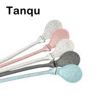Tanqu позолоченный кожаный лаконичный круглый ремень ручка с D пряжкой капли для города шик Obag корзина классический мини женская сумка O сумка