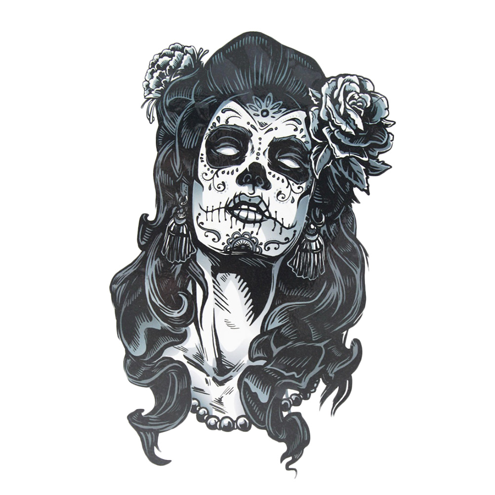 GANGSTER PINUP Girl  ~ Mechanics Work Shirt ~ Hot Babe ~ Tattoos /& Black Roses