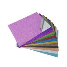 wedding decoration Glitter film sticker 10pcs/bag craft sticks DIY Bag glue party stickers book cover 20*30cm