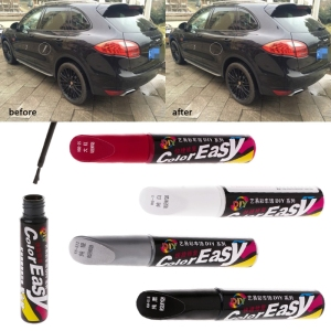 Image 1 - Car Paint Scratches Repair Pen Brush Waterproof Paint Marker Pen Car Tyre Tread Care Automotive Maintain Black White Red Silver
