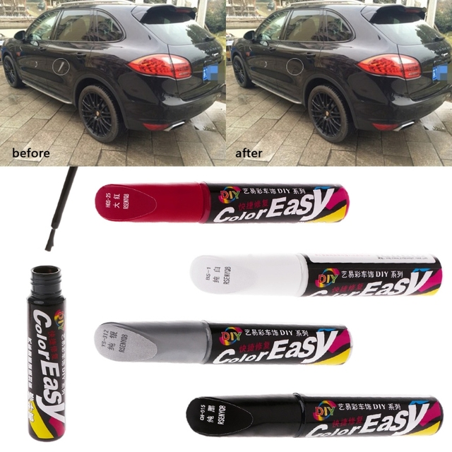 Car Paint Scratches Repair Pen Brush Waterproof Paint Marker Pen Car Tyre Tread Care Automotive Maintain Black White Red Silver