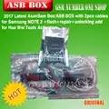 2017 Laatste AsanSam Box/ASB BOX met 2 stks kabels voor Samsung NOTE 2 + flash + reparatie + ontsluiten voegen voor Hua Wei Gereedschap Activering