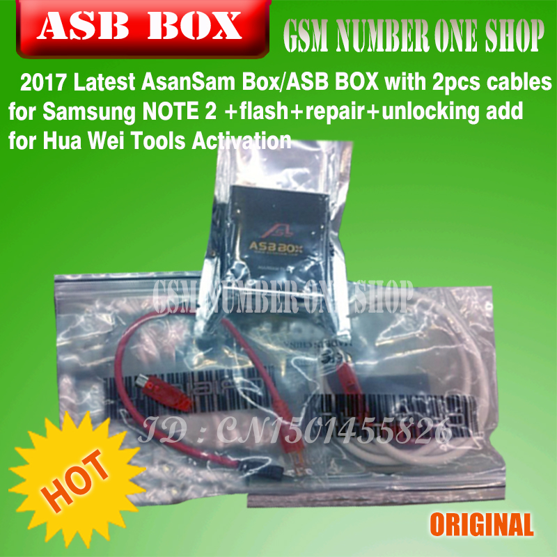 2017 Latest Asansam Box/asb Box With 2pcs Cables For Samsung Note 2 flash+repair+unlocking Add For Hua Wei Tools Activation Cellphones & Telecommunications