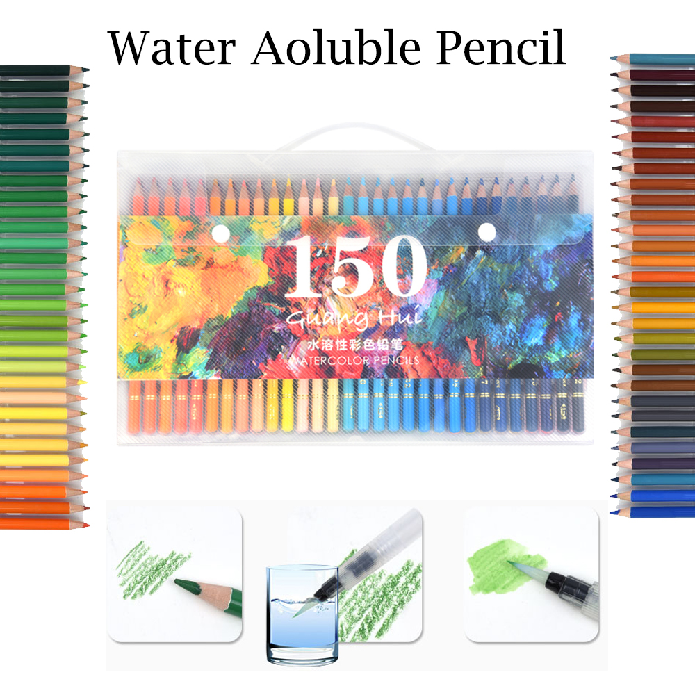 150 Colors Wood Colored Pencils Set Lapis De Cor Artist Painting Oil Color Pencil For School Drawing Sketch Art Supplies deli 2018 nature wood colored pencils set 12 18 24 36 48 colors for drawing painting sketch lapis de cor school artist supplie