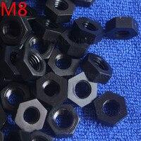M8 1 pcs black nylon hex nut 8mm plastic nuts Meet RoSH standards Hexagonal PC Electronic accessories Tools etc high-quality