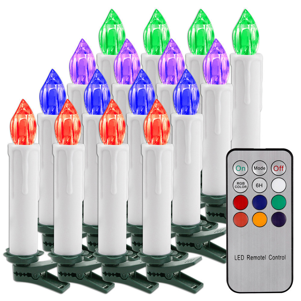 10 LED Candle Light Flameless Flickering Remote Control Christmas Home Decor Electronic candles lights Christmas Tree Decor