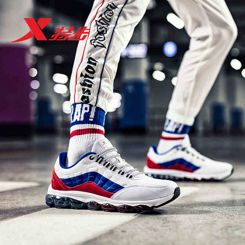 982119119087 XTEP Tênis Profissional Pé Inteiro Ar Mega Sole Amortecimento Esportes Formadores tênis de Corrida dos homens Das Sapatilhas Sapatos