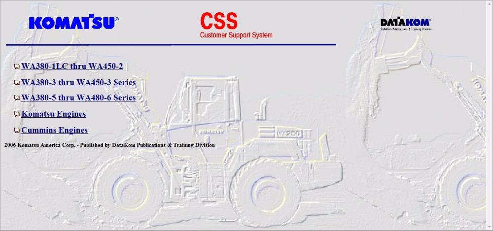 Komatsu CSS FULL SET SERVICE MANUALS WIRING DIAGRAMS komatsu wiring diagram komatsu battery diagram \u2022 free wiring  at reclaimingppi.co