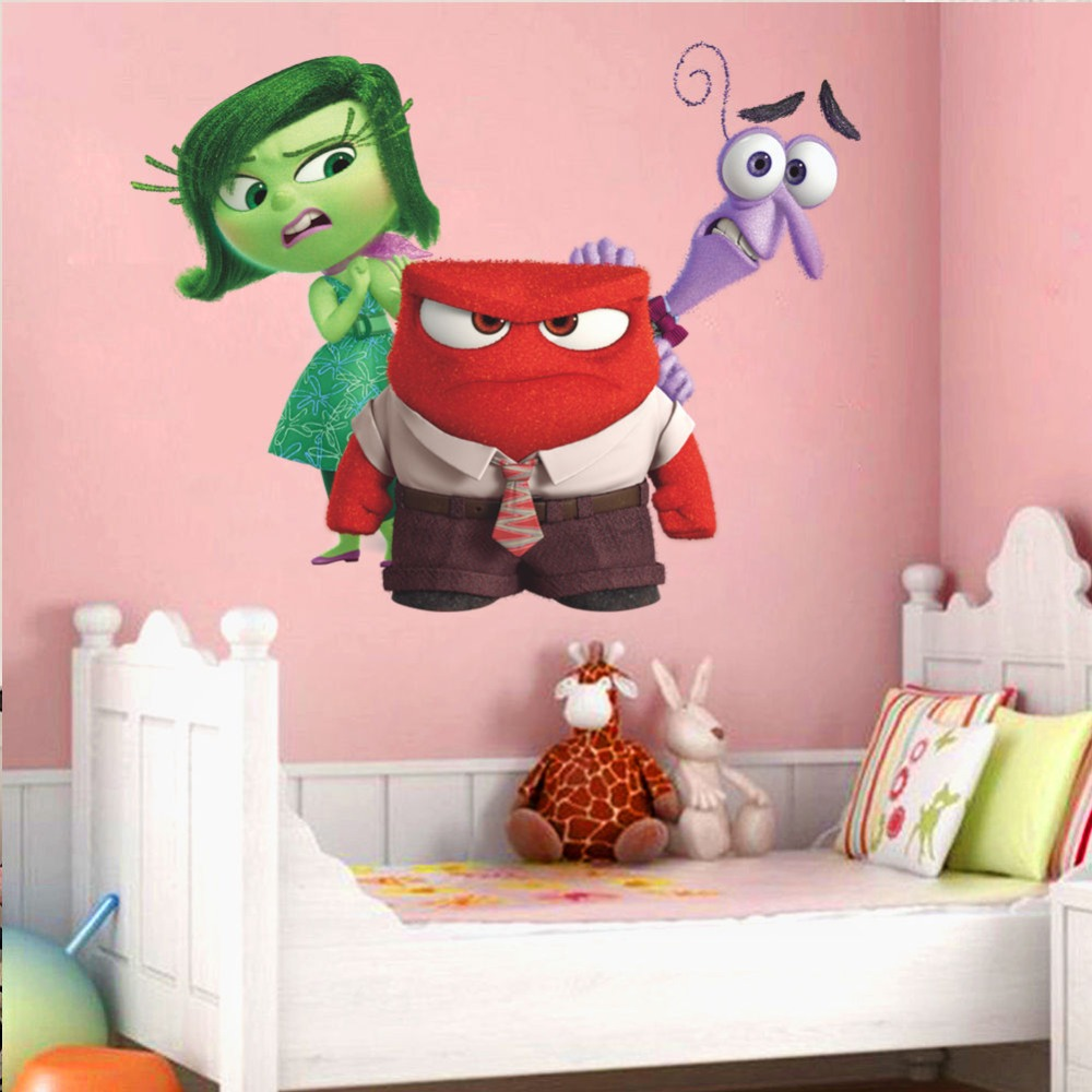 3D Райли эмоции страх гнев, наизнанку decoative Наклейки на стену Стикеры для детей Детская комната Декор дома этикета