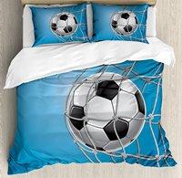 Футбол постельное белье, цель Футбол в сети развлечения игры для победы активный образ жизни, 4 шт. Постельное белье