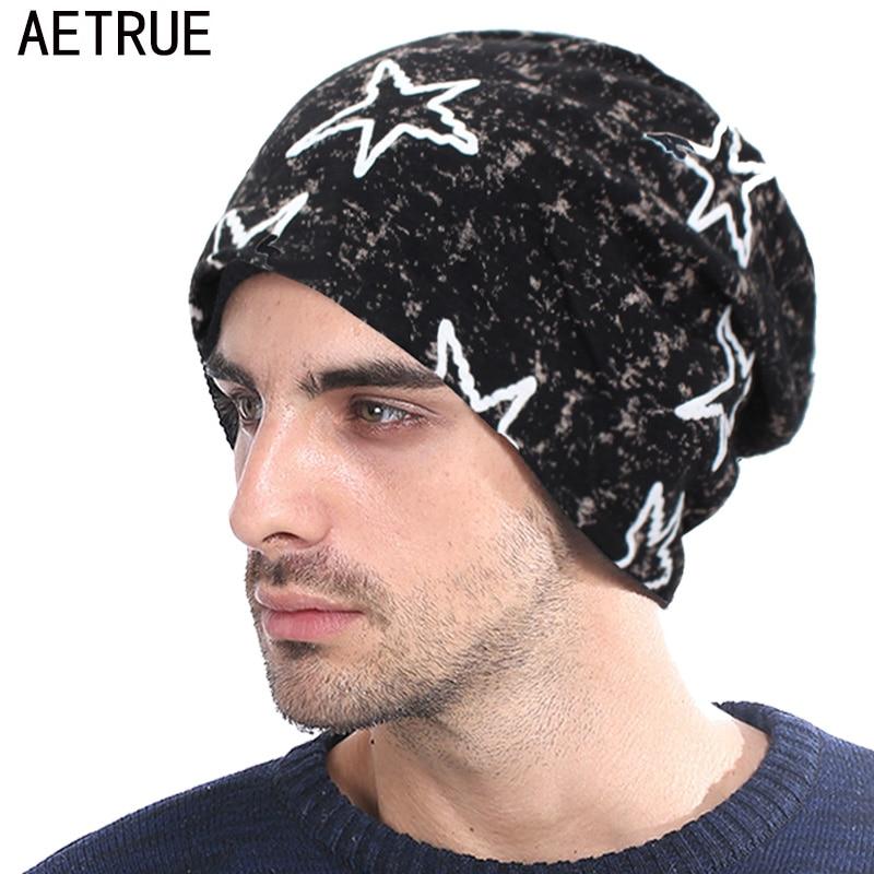 AETRUE   Skullies     Beanies   Women Knitted Hat Men Winter Hats For Men Bonnet Fashion Cap Warm Baggy Soft Cotton Balaclava   Beanie   Hat