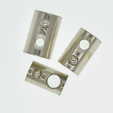 100/50/20pcs Half Round Elasticity Roll-in T Spring Nuts M3 M4 M5 M6 M8 For 2020 3030 4040 454 Aluminum Profiles Groove