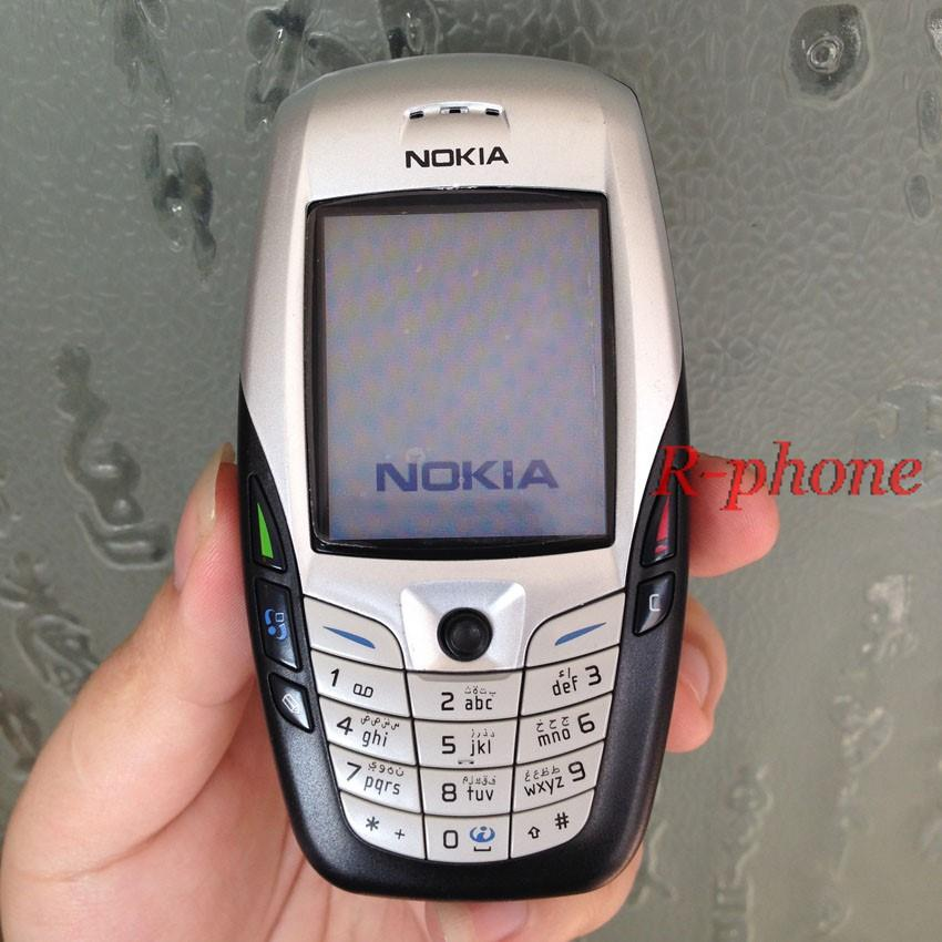 US $33 14 15% OFF Original NOKIA 6600 White Mobile Phone Unlocked 2G GSM  Triband English Russian Arabic Keyboard-in Cellphones from Cellphones &