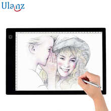 A4 Size LED Tracing Lightbox Light box Portable Artists Drawing Board Copyboard USB Power Cable Artcraft Tracing Light Pad стоимость