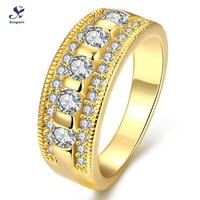 R318 A 8 High Quality Latest Design 18k Real Gold Plated Women Wedding Band Promise Ring