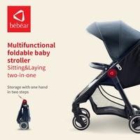Bebear Baby Stroller Light Weight Baby Pram Foldable Pushchair High Landscape Portable Babies Carriage for Newborns