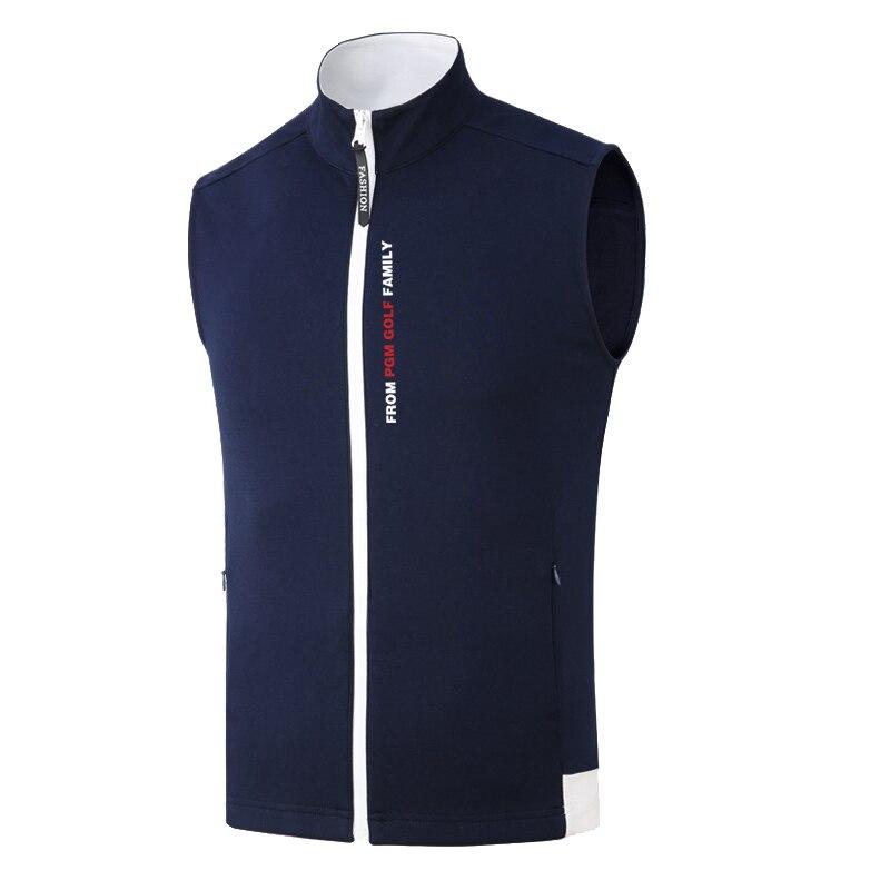 2019 nouveau PGM Golf vêtements coupe-vent hommes gilet veste de Golf automne hiver garder au chaud sans manches Zipper gilet Golf vêtements - 2