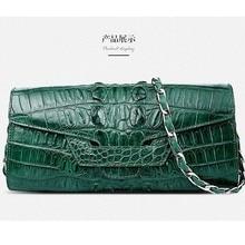 Gete 2016 new women alligator handbag real crocodile women bag single shoulder bag lady bag