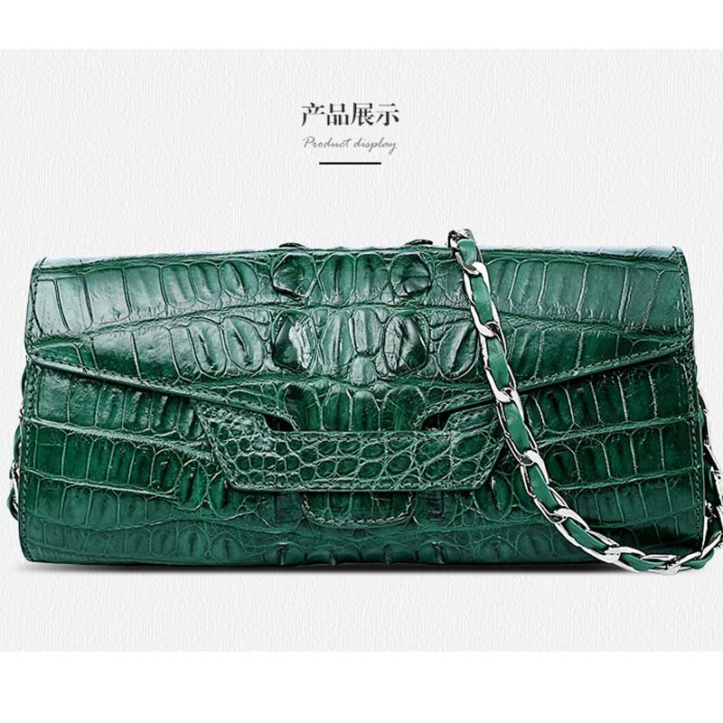 Gete 2016 new women alligator handbag real crocodile women bag single shoulder bag lady bag