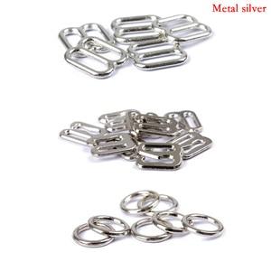 Image 4 - 20pcs 6mm~25mm Metal/Plastic Bra Strap Adjustment Buckles Underwear sliders Rings Clips For Lingerie Adjustment DIY Accessories