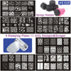 Nail Art Image Stamp Stamping Plates Manicure Template For DIY 6 Templates 1 Stamper 1 Scraper