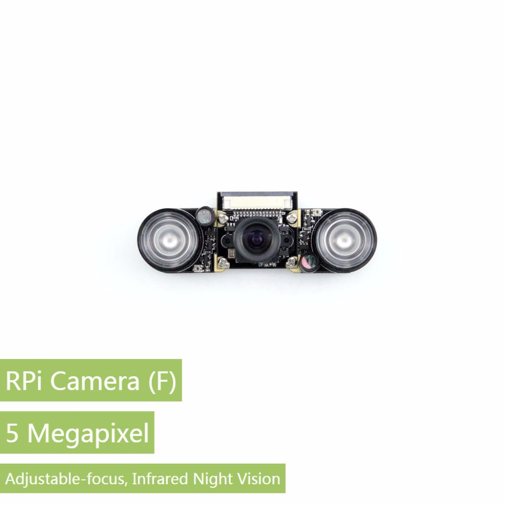 Parts 5pcs/lot Waveshare Raspberry Pi Camra for Model A+/B/B+/2 B/3 B Night Vision Camera Module 5MP OV5647 Webcam Video 1080p C