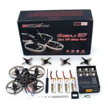 Happymodel Mobula7 V2 75mm Crazybee F3 Pro OSD 2 S Whoop Mini FPV Racing Drone BNF w/actualización BB2 CES 700TVL Cámara(China)