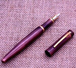 Image 3 - Fuliwen K2009 فريد الكلاسيكية نحت الاسترليني النحاس القلم الجسم نافورة القلم مع الماس رئيس كاب