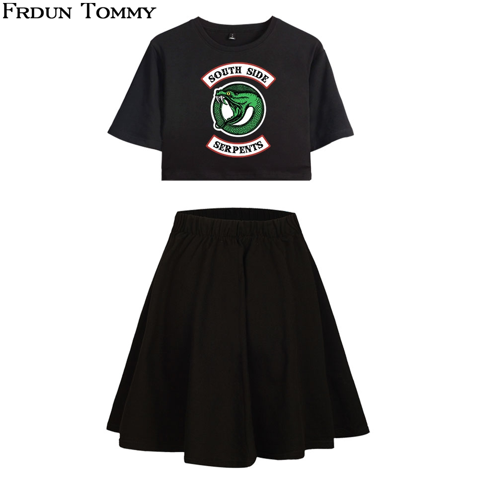 Humorous Frdun Tommy Riverdale Short Skirt Suit Hot 1 High Quality Short Sleeve T-shirt And Short Skirt Suit Two Piece Casual New Sets