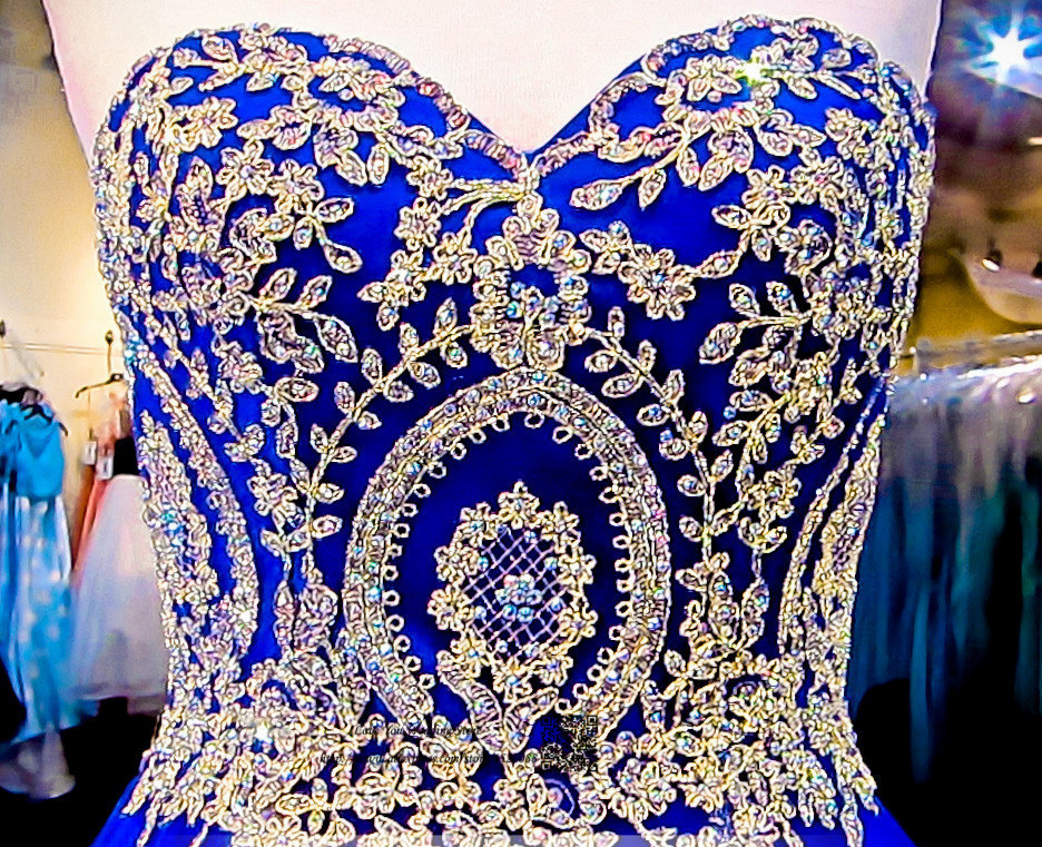 Modest Royal Blue Gold Lace Quinceanera Dresses Ball Gown Plus Size Prom Dress 2017 Vestidos De Quince Anos Graduation In From