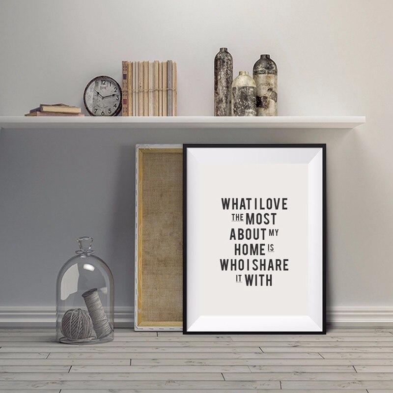 Lo que más me gusta de mi hogar es con quién lo comparto con Poster - Decoración del hogar - foto 2