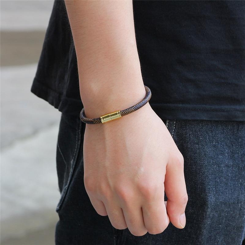 2019 Fashion Alloy Magnetic Buckle Men Bracelet Brand High-Quality Retro Bracelet Women Brave Knight Pulseira Bracelet Ladies
