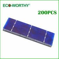 ECO WORTHY 200pcs High Efficiency 156x39mm Polycrystalline Solar Cells 1W/pc Solar Module High Quality for DIY 200W Solar Panel