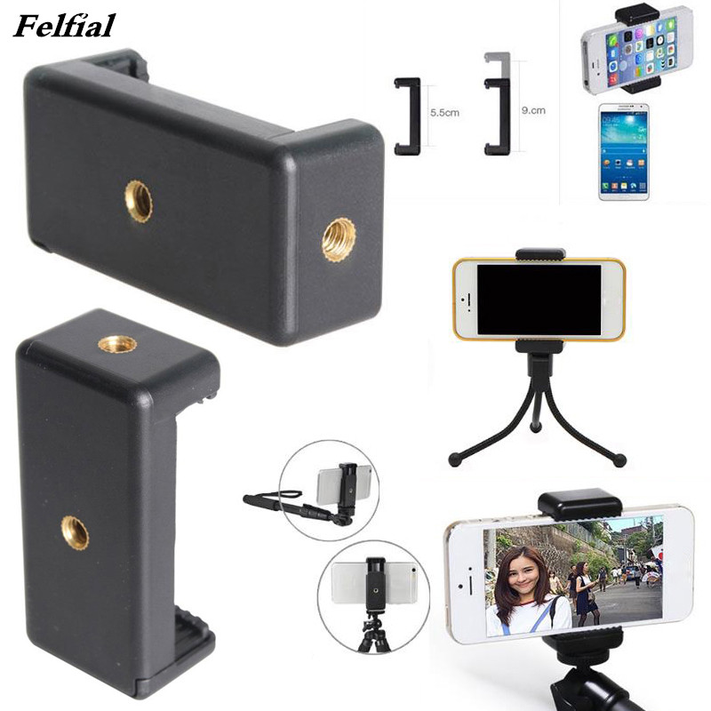 Mobile Phone Clip Clamp Bracket Holder Stand Support Retractable Mount Universal for gopro for iphone/xiaomi /huawei /sony/htc