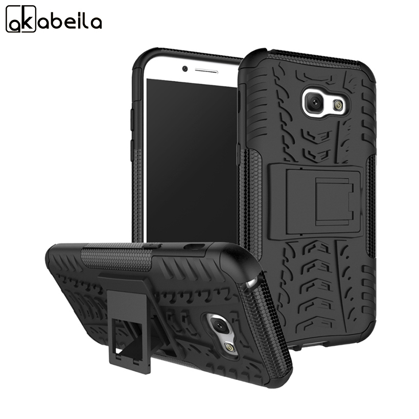 AKABEILA Shockproof Covers For Samsung Galaxy A5 2017 Case Hybrid Rubber Skin Armor Phone Cover A520 A520F A5200 Protective Case