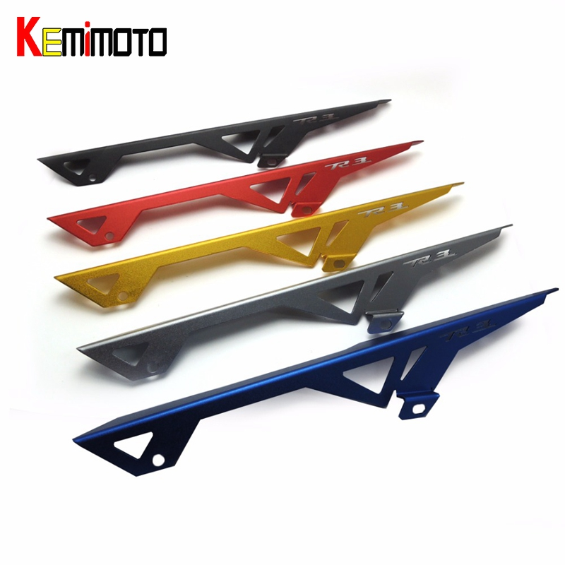 KEMiMOTO For Yamaha R3 2015 2016 YZF-R3 Motorcycle Chain Guard Protective Cover Five Colors for Option new free shipping motorcycle cnc for yamaha yzf r25 13 14 15 r3 2015 2016 chain guard cover protective red