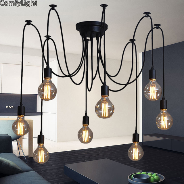 Célèbre Moderne creative araignée lampe industrielle style ajustable diy  KB08