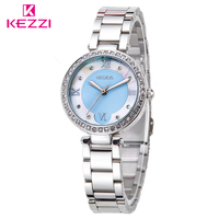 Watch Women Stainless Steel Quartz Watches KEZZI Brand Luxury Popular Watch S Female Casual Fashion Wristwatch