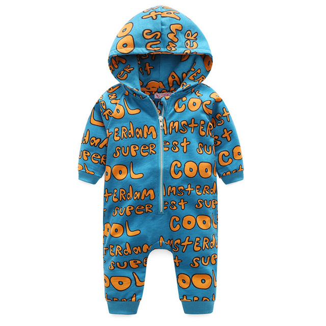 5da4ae21b2d2 Fashion Baby Boy Romper New Baby Autumn Winter Clothes Letter Print ...